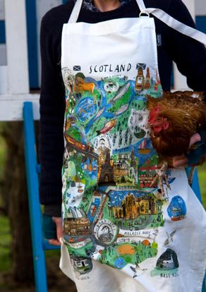 Scotland Mapped Out Apron